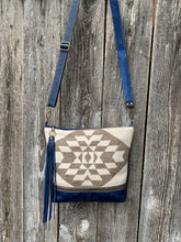 Graystone Blue Deluxe - Handcrafted Leather and Wool Bag
