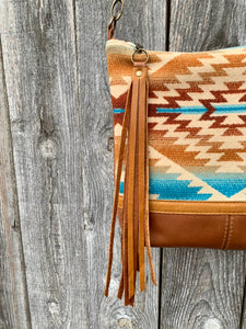 Santa Fe Deluxe - Handcrafted Leather and Wool Bag