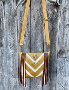 Chevron Deluxe ~ Leather Bag