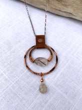 Rutilated Quartz  Drop Necklace