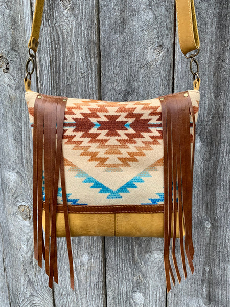 santa fe fringe deluxe ~ leather bag