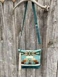 desert blue deluxe ~ leather bag