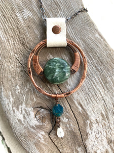 Seraphinite Drop Necklace