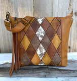 PREORDER Vintage Diamond Crossbody Deluxe in Honey Butter