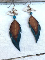 Vintage Waxed Dangle Earrings