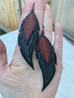 Waxed Vintage Feathers~ Dark Green
