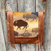 buffalo fringe deluxe ~ leather bag