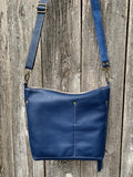 graystone blue deluxe ~ leather bag