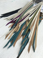 Agave - Dainty Fringe Leather Earrings