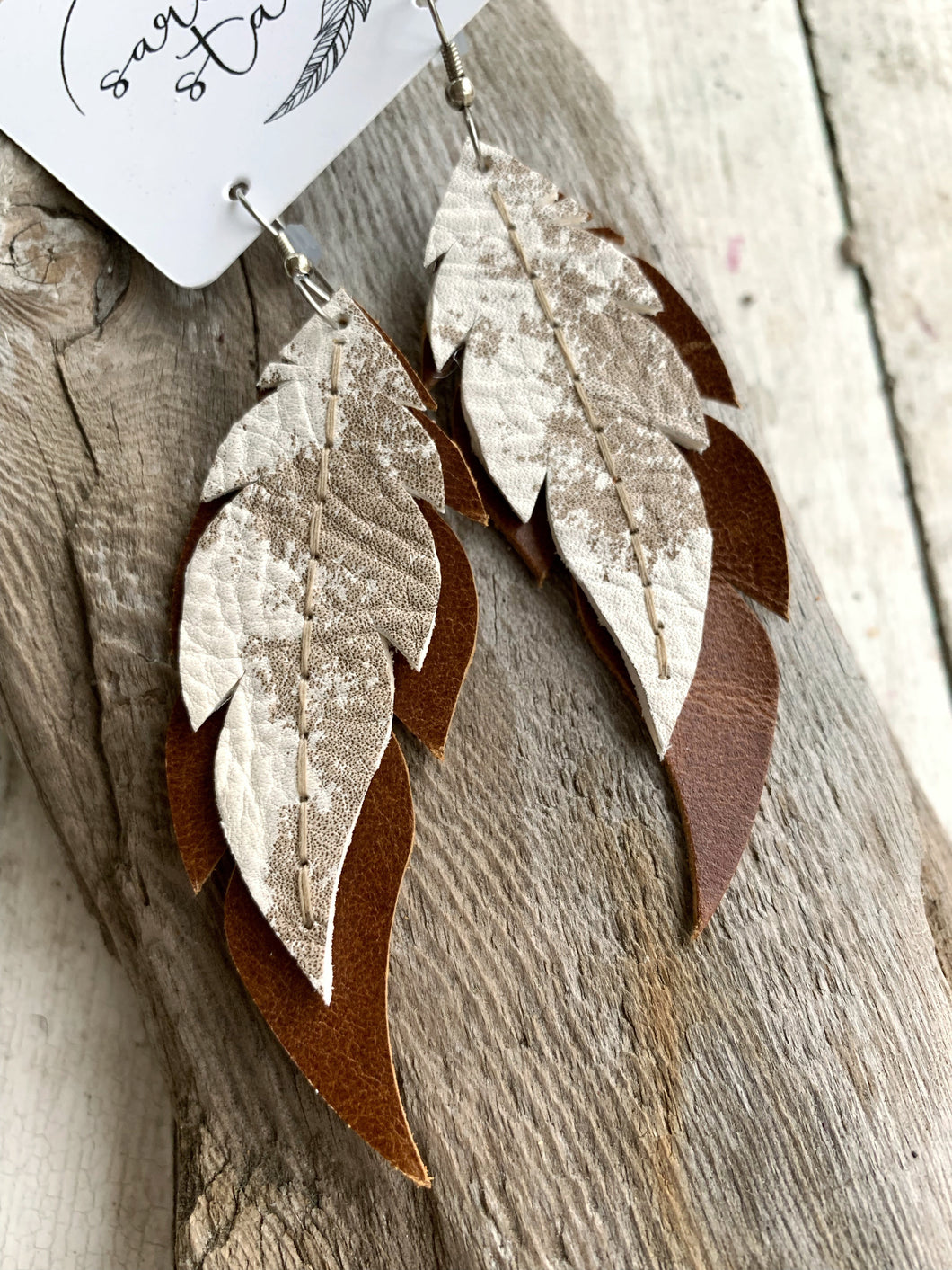 Cowhide Earrings