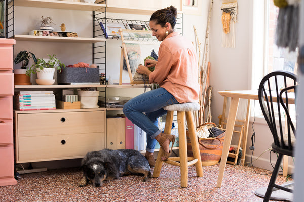 Jacquie in her studio.