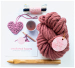 Homelea Lass - Chunky Heart Crochet Kit - Choice of Colours