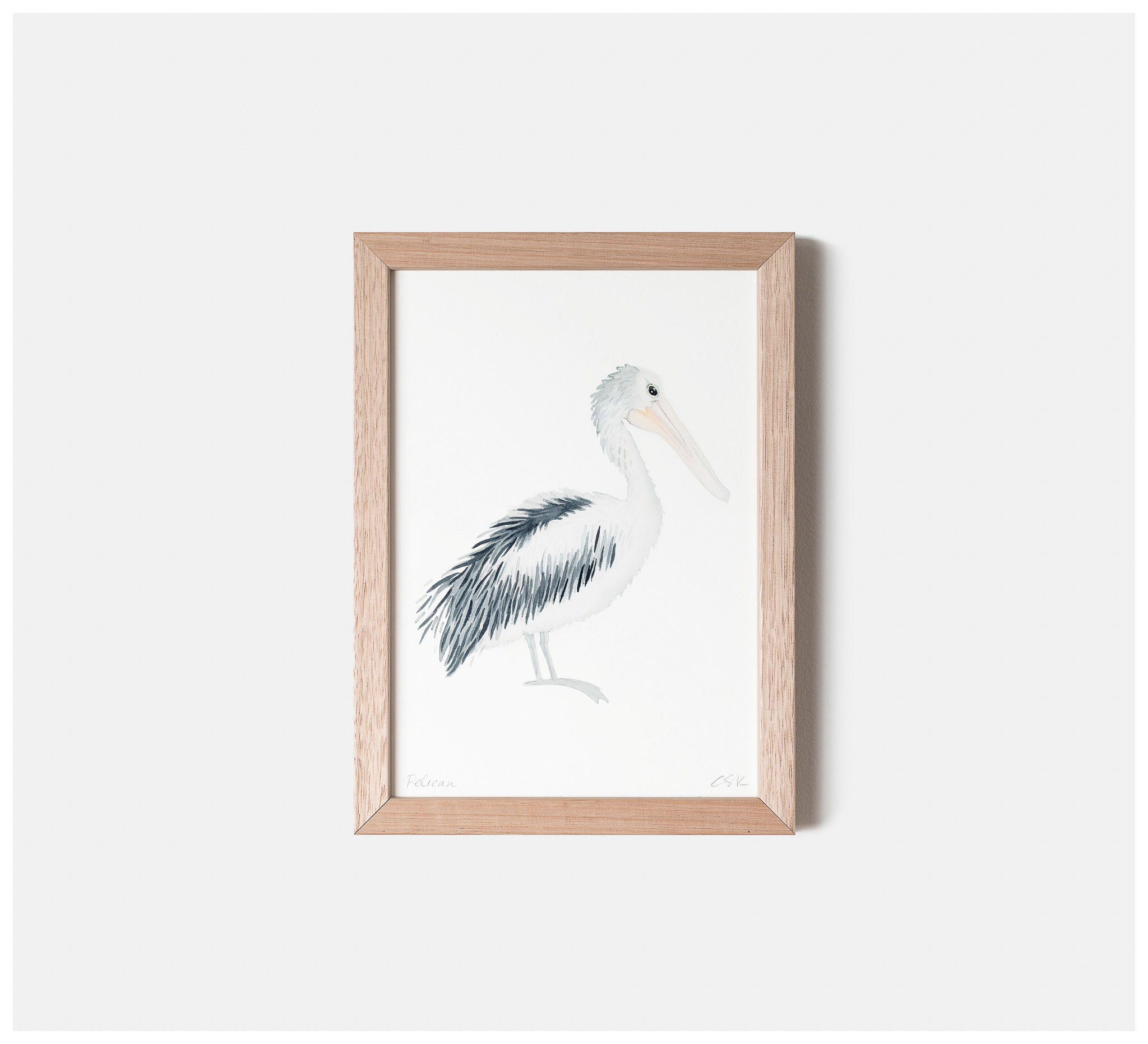 Ink & Spindle - Pelican Watercolour Fine Art Print - Unframed