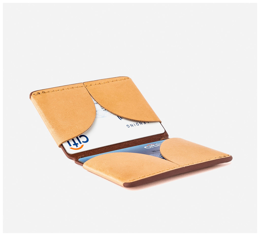 Blackinkk - Bi-fold Card Wallet RFID - Kangaroo Leather - Camel