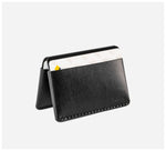 Blackinkk - Bi-fold Card Wallet - Kangaroo Leather - Black