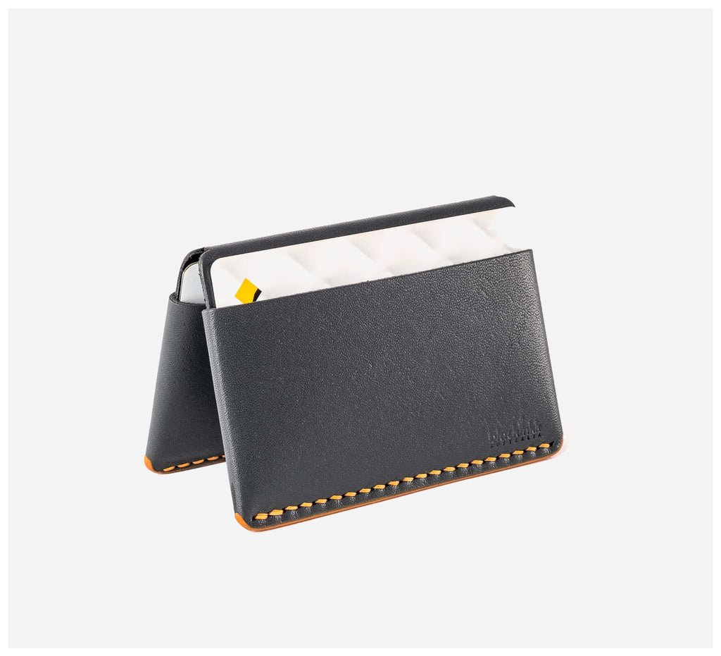 Blackinkk - Bi-fold Card Wallet - Kangaroo Leather - Graphite Grey