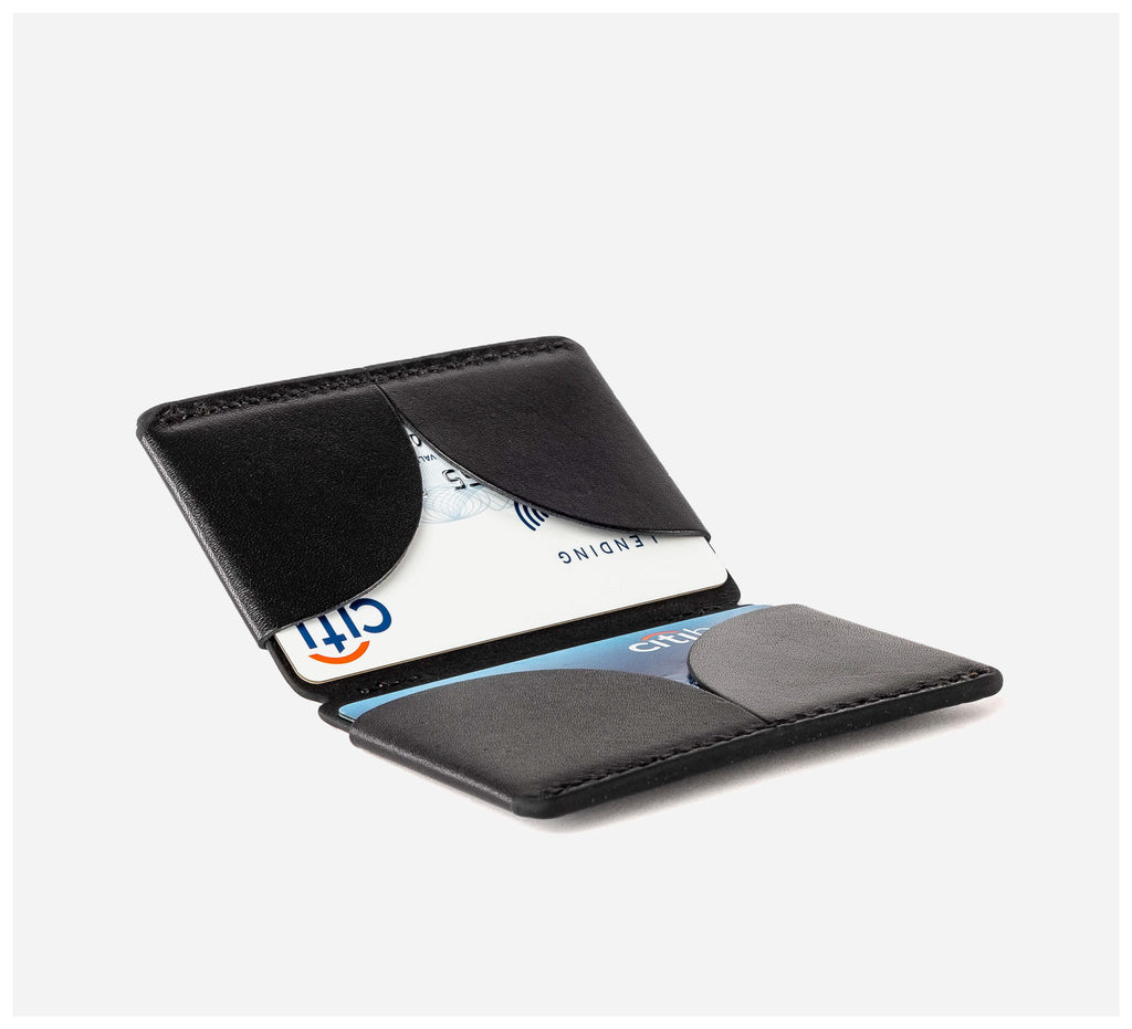 Blackinkk - Bi-fold Card Wallet RFID - Kangaroo Leather - Black