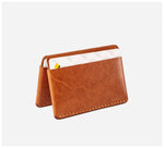Blackinkk - Bi-fold Card Wallet - Kangaroo Leather - Vintage Caramel
