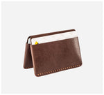 Blackinkk - Bi-fold Card Wallet - Kangaroo Leather - Vintage Chocolate