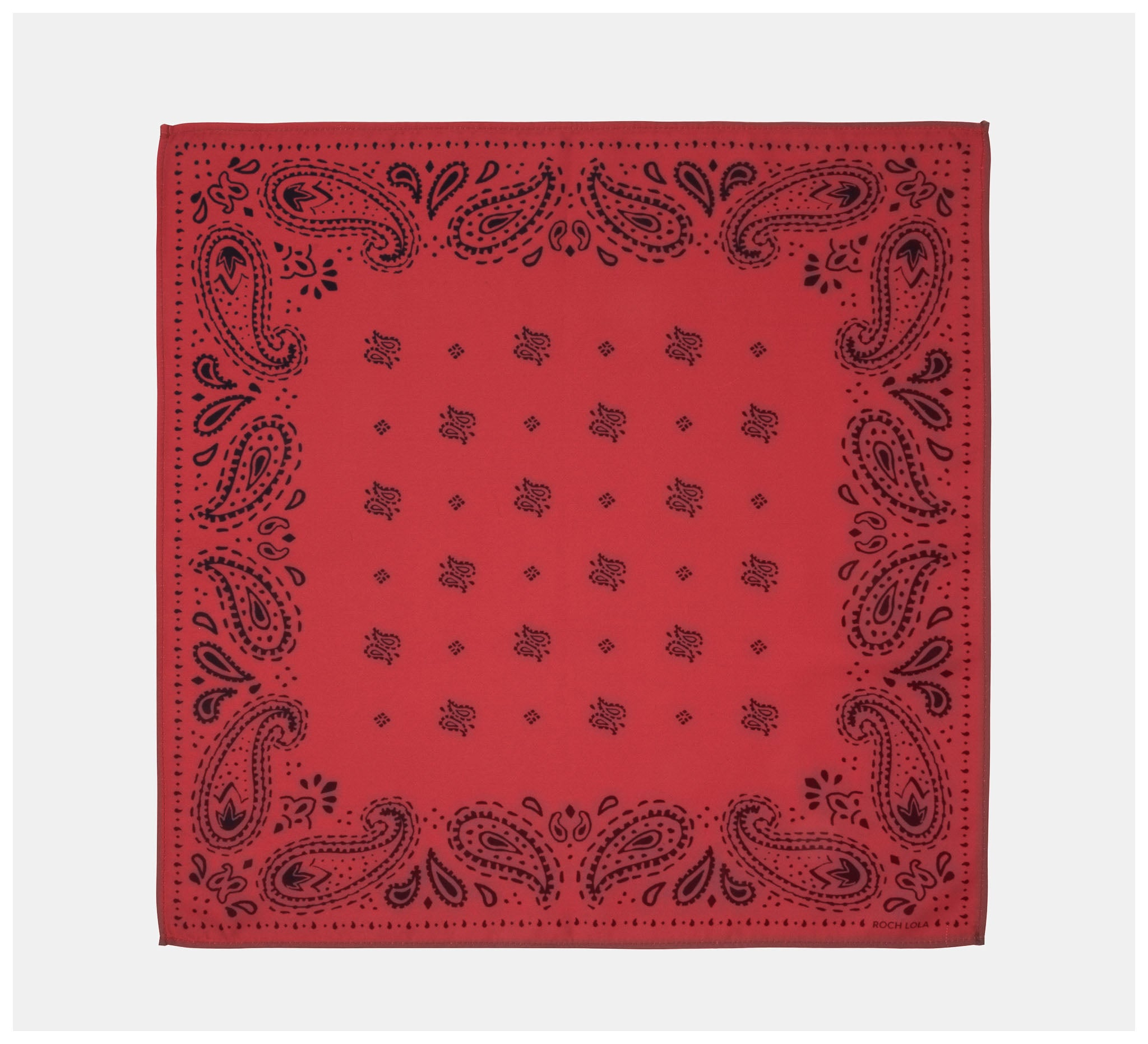 Roch Lola - The Scarf - Modern Paisley - Red/Navy