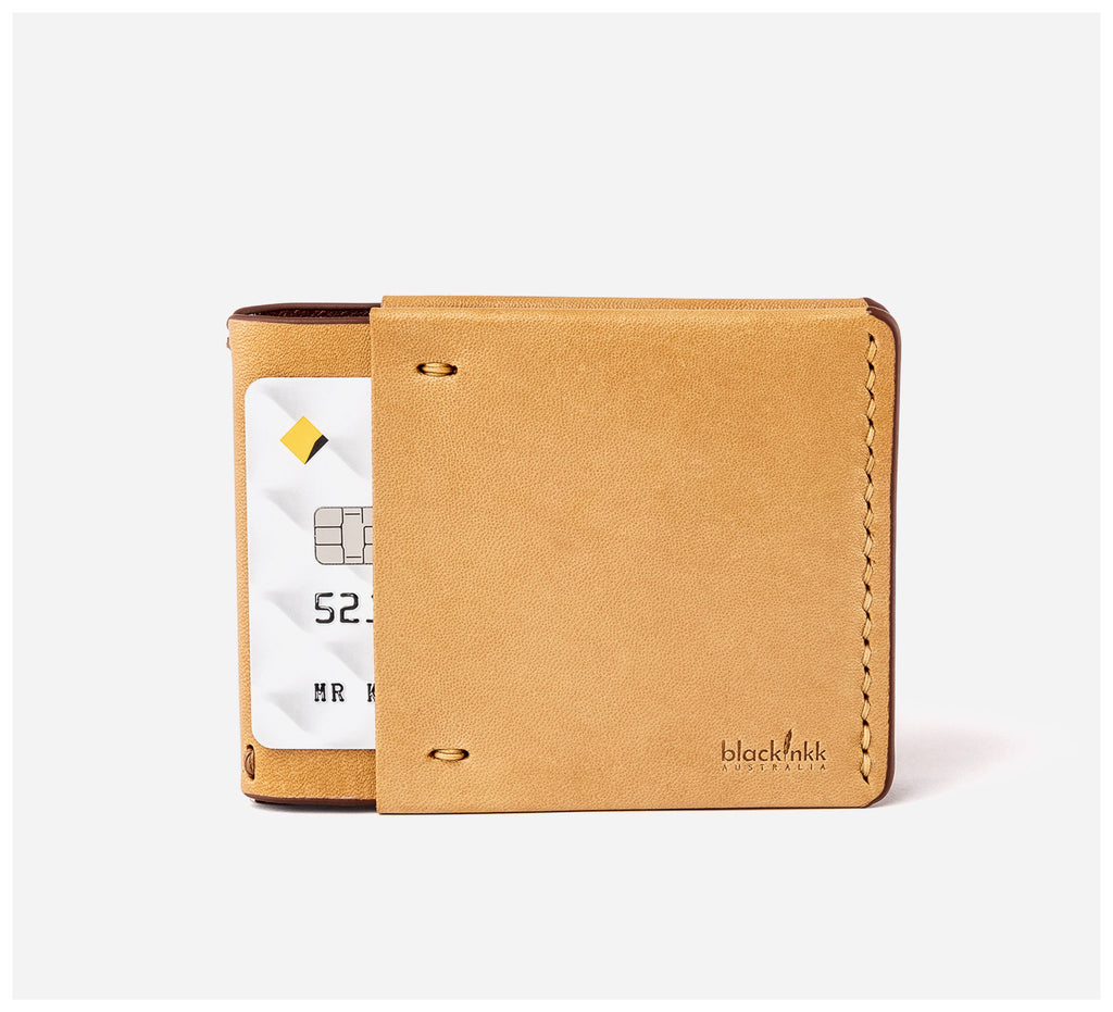 Blackinkk - Money Clip Wallet RFID - Kangaroo Leather - Camel