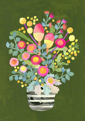Laura Blythman - I Picked You Some Flowers - Limited Edition Fine Art Print - Unframed