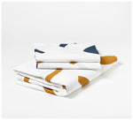 Mosey Me - Shapes Quilt Cover Set - Navy & Tan