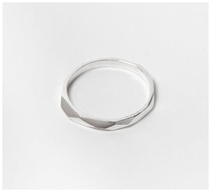 Abby Seymour – Faceted Silver Ring