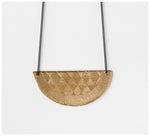 Abby Seymour – Half-Moon Brass and Oxidised Sliver Necklace