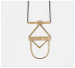 Abby Seymour – Scarab Brass and Oxidised Silver Necklace
