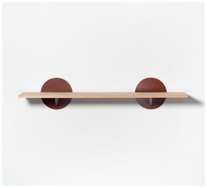 Tuckbox Design - Spot Shelf - Terracotta Steel and Timber