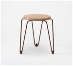 Tuckbox - Klein Lozenge Stool - Terracotta Mild Steel and Timber