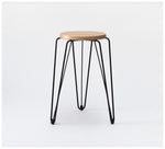Tuckbox Design - Rex Lozenge Stool - Black Mild Steel and Timber