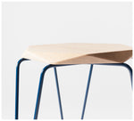 Tuckbox Design - Klein Gem Stool - Navy Mild Steel and Timber