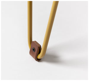 Tuckbox Design - Klein Gem Stool - Mustard Mild Steel and Timber