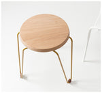 Tuckbox - Klein Lozenge Stool - Mustard Mild Steel and Timber