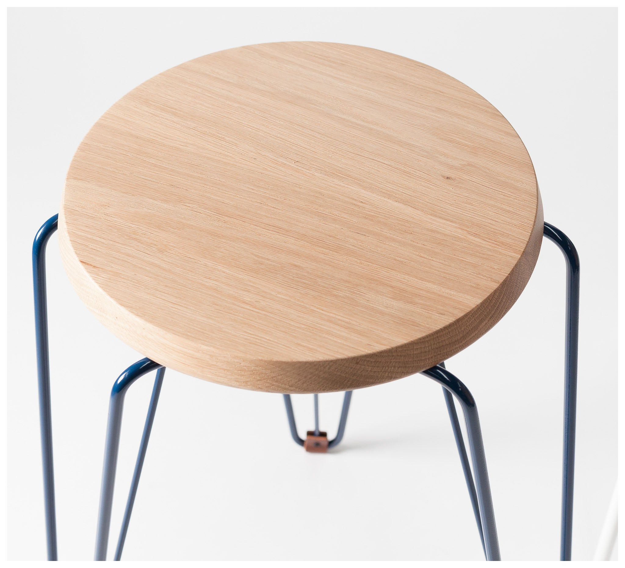 Tuckbox Design - Rex Lozenge Stool - Navy Mild Steel and Timber