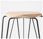 Tuckbox Design - Rex Gem Stool - Black Mild Steel and Timber