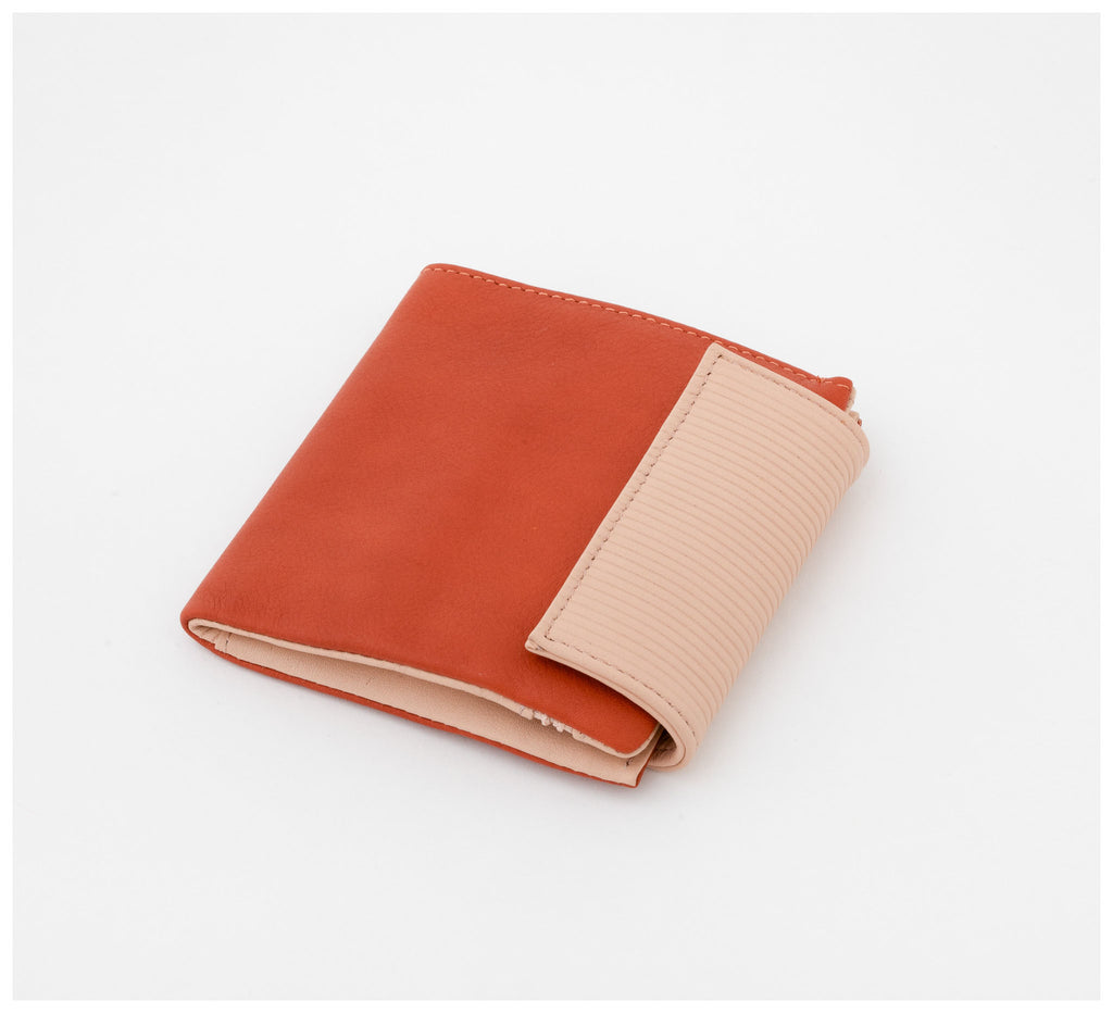 Oktoberdee - Bishop Leather Wallet - Soil & Peony