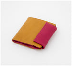 Oktoberdee - Bishop Leather Wallet - Lichen & Magenta