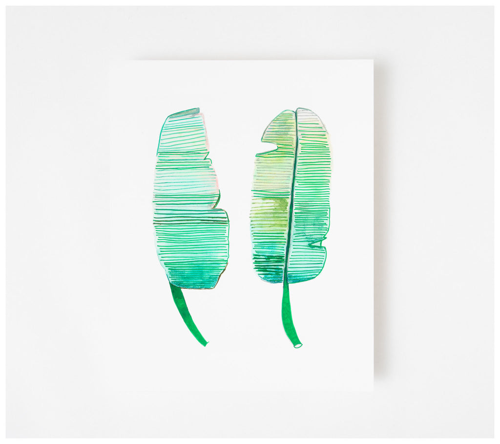 Studio Onethirty - Petite Series 'Banana Palm'  Fine Art Print - Unframed