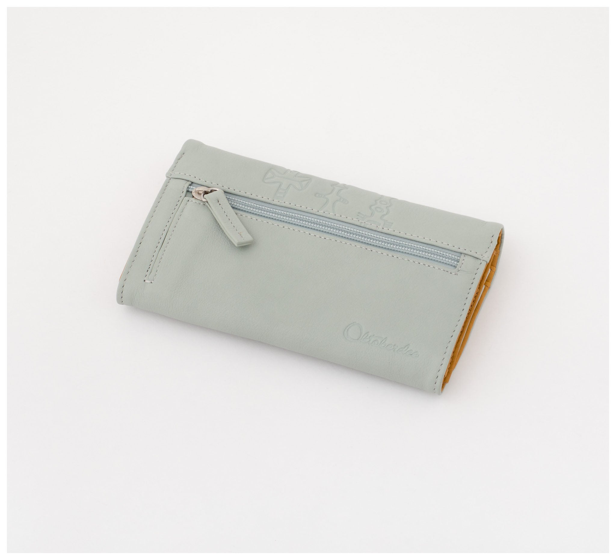 Oktoberdee - Sachem Leather Purse - Sky