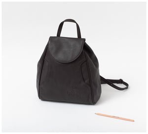 Oktoberdee - Aleut Leather Backpack - Asphalt