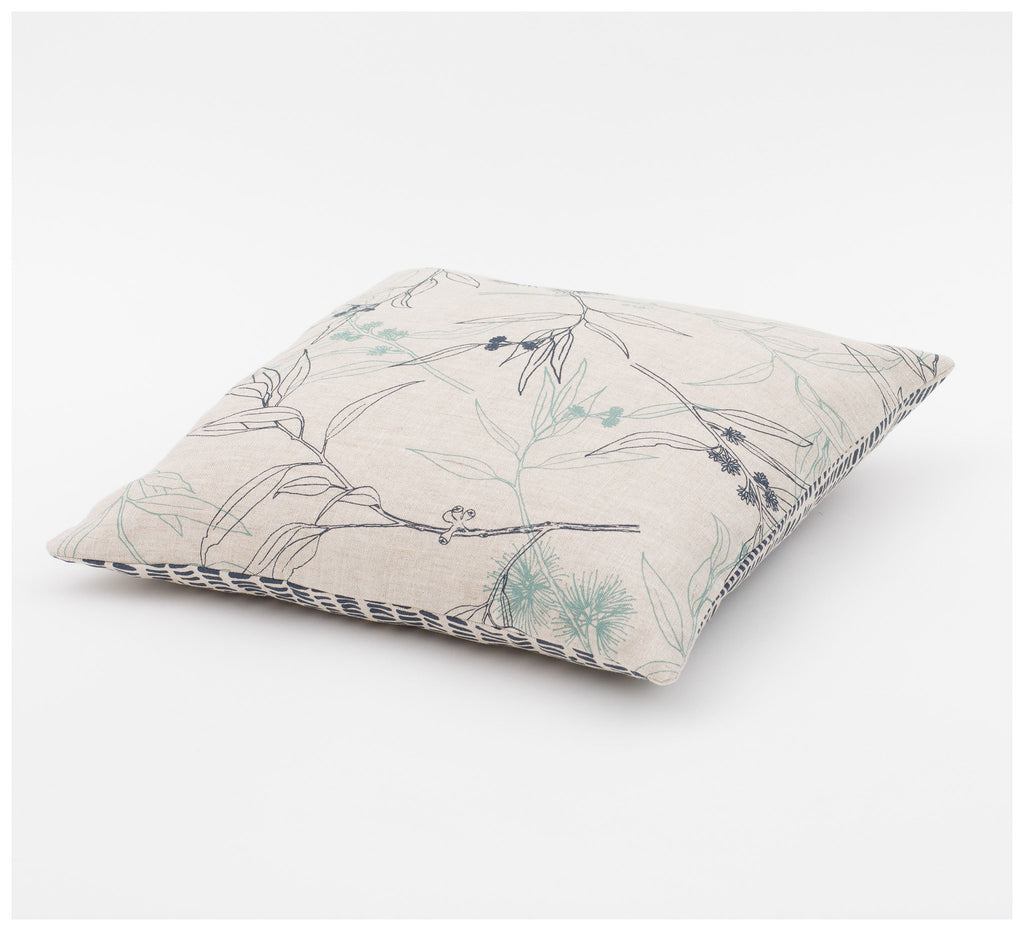 Ink & Spindle - 45cm Cushion – Flowering Gum & Grass
