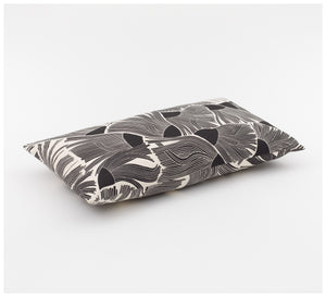 Ink & Spindle - Rectangle Cushion – Gumflower in Black