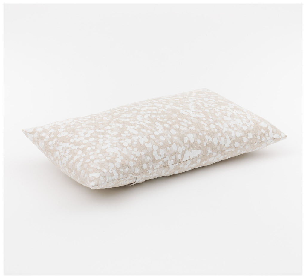 Ink & Spindle - Rectangle Cushion – Spotted Quoll in Snow