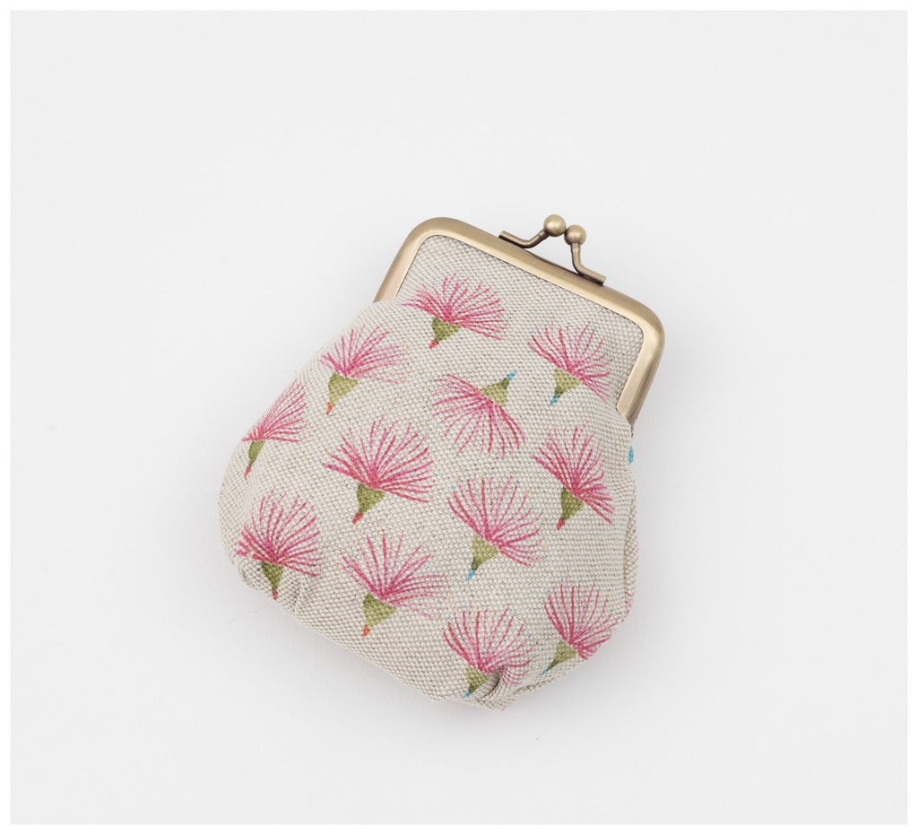Clare Mazitelli Designs - Clasp Purse - Gum Flower