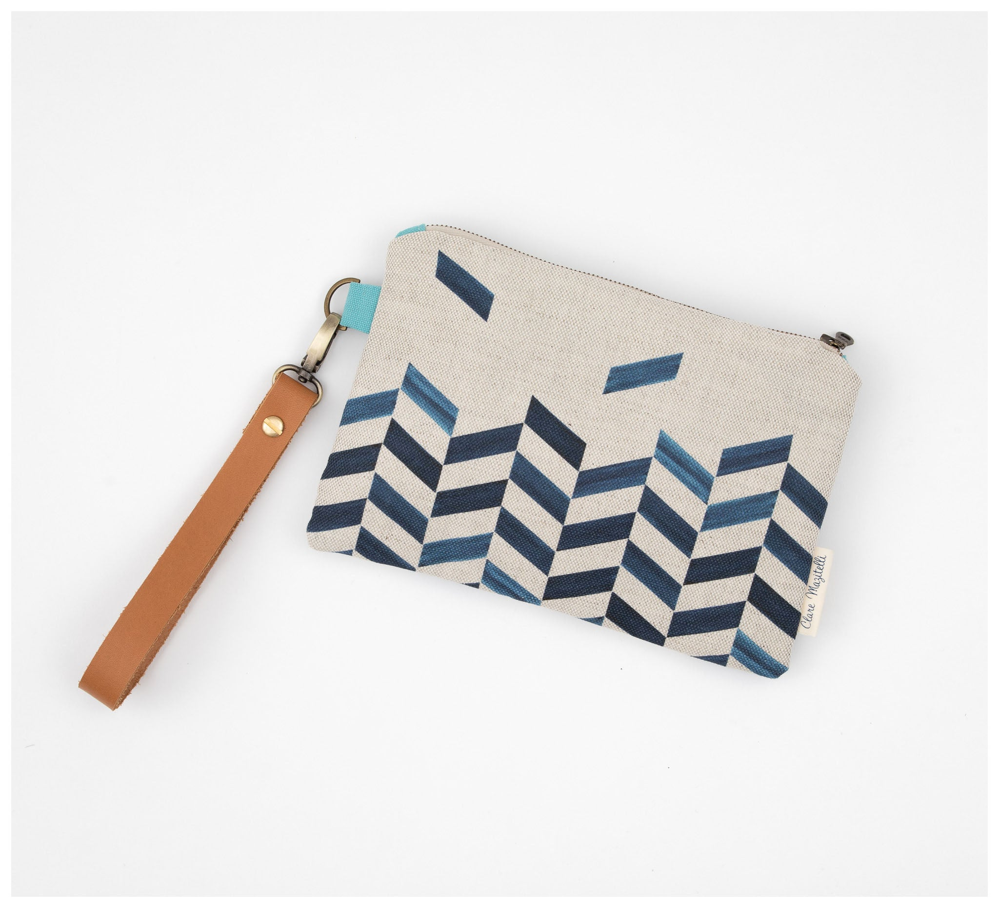Clare Mazitelli Designs - Clutch Bags - Chevron Print