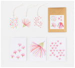 Clare Mazitelli Designs - Greeting Card Set - Gum Flower