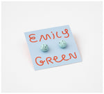 Emily Green Studio - Stud Earrings - Fast Sketch - Duck Egg Speckle